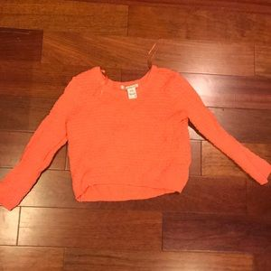Coral crop sweatshirt